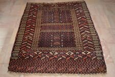 Handmade Rug Persian rug Antiques Carpet Old Turkman Ensi rug