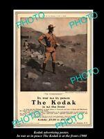 8x6 HISTORIC PHOTO OF KODAK CAMERA ADVERTISING POSTER KODAK AT THE FRONT c1900