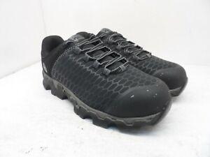 Timberland Pro Men's Powertrain Sport Alloy Toe Work Shoes A176A Black Size 9.5W