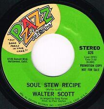 WALTER SCOTT soul stew recipe U.S.PZAZZ 45RPM 026_ORIG RARE soul/funk MINT PROMO
