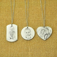 Custom Picture Necklace Engraved Photo Keepsake Portrait Necklace Photo Necklace