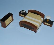 LEGO Furniture: Master Bedroom Set  -  King Size Bed, (2x) Nightstands & Dresser