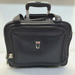 DELSEY 16x13x8 Light Weight Spinner Black Carry-on Luggage Rolling Bag