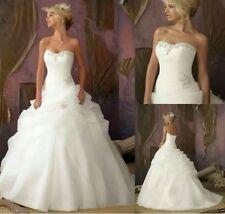 New Stock White/Ivory Bridal Wedding Dress Bridal Gown   Size 6- 16 UK