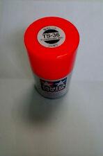 TAMIYA COLORE SPRAY PER PLASTICA FLUORESCENT RED ROSSO FLUO 100ml  ART TS36