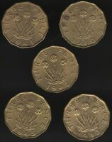 Collection Of High Grade George VI Nickel-Brass Threepence Coins |Pennies2Pounds