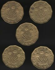 More details for collection of high grade george vi nickel-brass threepence coins |pennies2pounds