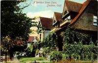 Stockton CA A Residence Street Scene Postcard used 1900s/10s
