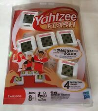"Hasbro Electronic Yahtzee Flash Game - Smartest Dice (4 Fast Action Games) ""NEW"""
