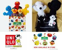 Kaws Sesame Street X UNIQLO Plush Snoopy Ernie Bert Elmo Cookie Monster Big Bird