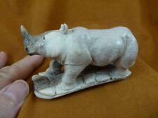 """Cute Wildlife RHINOCEROS Painted Metal Figurine 5/"""" long 4464-4"""