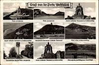 Porta Westfalica ~1950/60 Wittekindberg Kaiser Wilhelm Denkmal Jocobsberg Turm