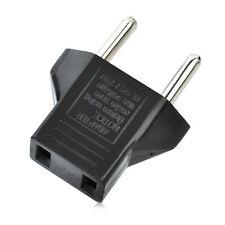 5x US USA to EU Euro Europe Power Jack Wall Plug Converter Travel Adapter New