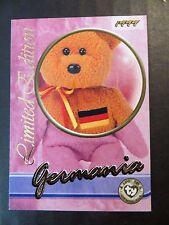 Ty Beanie Babies Series III S3 Limited Edition Germania Tear A Bear Card