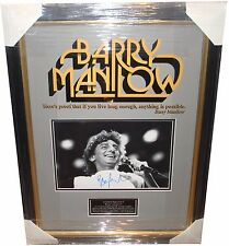 Barry Manilow SIGNED AUTOGRAPH Signing Details AFTAL UACC RD