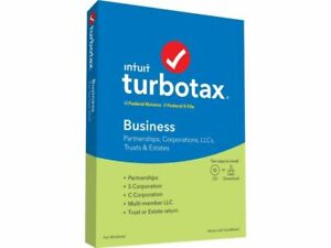 Intuit TurboTax Business 2020 for PC - 4 of 5 installs left.