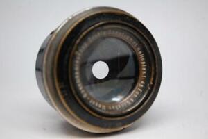 """Meyer Gorlitz double anastigmat Helioplan 4 1/4"""" f4.5 lens in focus mount"""