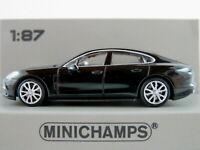Minichamps 870 067104 Porsche Panamera 4S (2015) in schwarz 1:87/H0 NEU/OVP