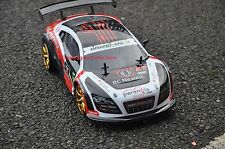 Audi R8 Style 4WD Drift Radio RC Car RC Drift Car 1:10 extra 4 rubber tyres