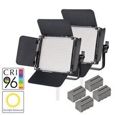 LED Panel Twin Kit Video Lighting Interview Film Location Daylight 5500K Lights