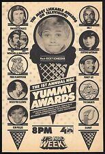 1983 ABC TV AD~SMURFS~GUMBY~MR T~BOZO THE CLOWN~KIM FIELDS~YUMMY AWARDS SHOW 1ST