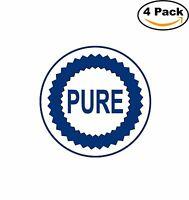 Pure Oil Vintage Decal Diecut Sticker 4 Stickers
