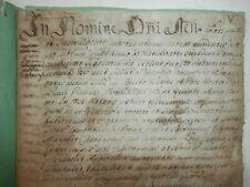 Raro Antico documento manoscritto 5 dicembre 1614 In Nomine 20 pagine seicentina