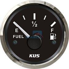 KUS Fuel Level Gauge Boat/Marine Fuel Tank Level Gauge 12/24V 52mm 240-33 ohms