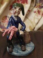 Will Young Pottery Fisherman With A Lobster - Will Young Signed A/F
