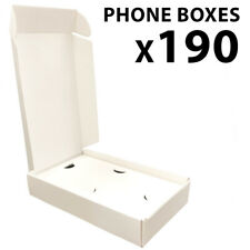 190 Pcs Specialty Cell Phone Empty Boxes White Generic For Retail Or Resale