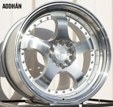 17X9 +25 Aodhan Ah03 5X100 Silver Wheel Fits Dodge Neon Srt4 WRX Outback CELICA
