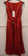 Amelia Collection 1950's Style Rockabilly Red Satin Full Skirted Dress Size 6