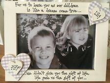 Personalised Photo Frame by Filly Folly! Adoption, New Baby Gift 7x5''