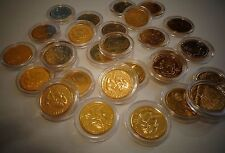24 KT GOLD PLATED STATE QUARTER _ 25 CENT UNCIRCULATED COMES IN PLASTIC CAPSULE