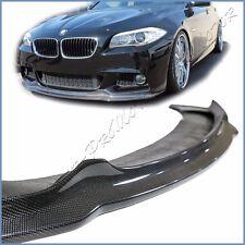 Fit 11-15 BMW F10 Sedan 528i 550i M Sporty Bumper AK Look Carbon Fiber Front Lip