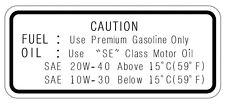 Yamaha Service Hinweis Tank Aufkleber Öl Benzin FUEL-OIL TT500'76 XT500-'79