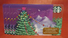 Lot of 4 Starbucks, 2017 Purple Christmas Gift Cards New Unused with Tags