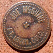 FORT LOGAN Colorado TOKEN ⚜️ Joe McGuire RARE
