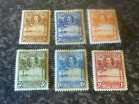 SIERRA LEONE POSTAGE & REVENUE STAMPS SG158-163 LIGHTLY MOUNTED MINT