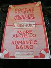 Partitur Môme De Musette Miniatur Wiener Alberg Leroy Pater Angelo Romantic