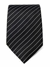 Schwarze Seide Krawatte mit weißen Streifen