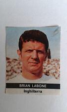 1970 Brian LABONE Everton Adesivo solo rilasciato in Italia dalla radio corriere