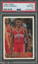 1996-97 Topps #171 Allen Iverson Philadelphia 76ers RC Rookie PSA 10 GEM MINT