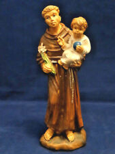 "Antique 6"" Tall  Italian Celluloid Saint/ Monk holding a Child Figurine"
