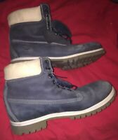 Timberland Lace Up, Blue Suede Boots Mens Size 11 M