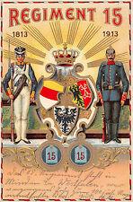Altpreußisches Infanterie Regiment No. 15 Postkarte 1913