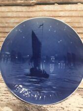 BING&GRONDAHL CHRISTMAS PLATE 1918 Denmark Blue