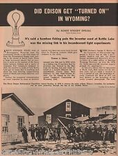 Thomas Alva Edison Invention Of The Light Bulb w Barker,Clarke,Craig.Draper,sox