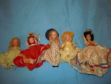 Antique Lot Story Book Dolls Bisque Hard Plastic Doll Repair Old Vintage Rare
