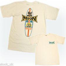 Mooneyes Surfboard Men's T Shirt (Small) Hot Rod Kustom VW Bug Bus Woodie Moon